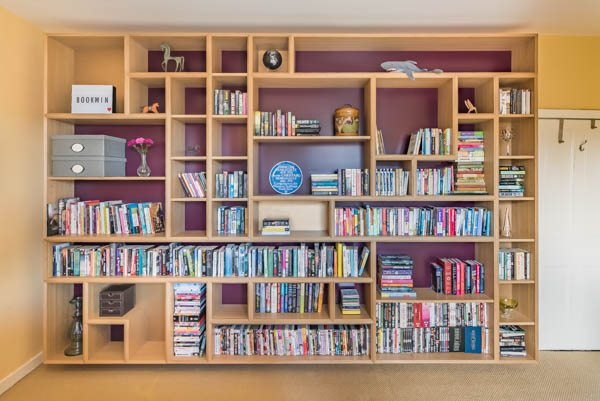 This Large Floating Bookshelf Unit Spanned The Entire Bedroom Wall In Home Chapel Allerton Leeds It Was Custom Designed To Fit Our Clients Brief
